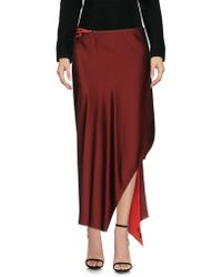 9ccf16aeba DKNY Pleated Maxi Skirt in Metallic - Lyst