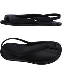 Paco Rabanne Toe Strap Sandal - Black