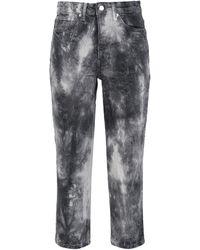 TOPSHOP Denim Trousers - Black