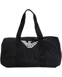 Emporio Armani Travel Duffel Bags - Black