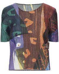 Pleats Please Issey Miyake Camiseta - Marrón