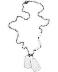 Fossil Halskette - Mettallic