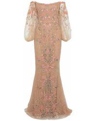 Marchesa Long Dress - Pink