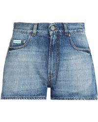 ALEXACHUNG Denim Shorts - Blue