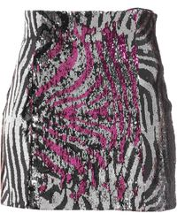 Halpern Mini Skirt - Multicolour