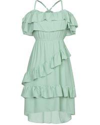 Twenty Easy By Kaos Short Dress - Green