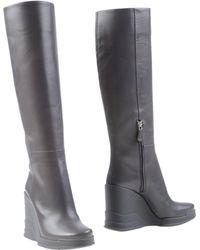 Prada Knee Boots - Grey