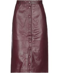 REMAIN Birger Christensen Midi Skirt - Purple