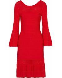 Hervé Léger Short Dress - Red