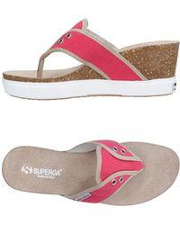 Superga - Toe Strap Sandals - Lyst