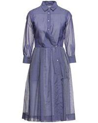 Sara Roka Midi Dress - Purple