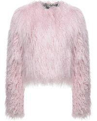 Pinko Teddy Coat - Pink