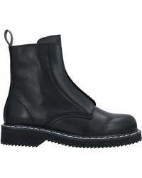 Jil Sander Navy Ankle Boots - Black