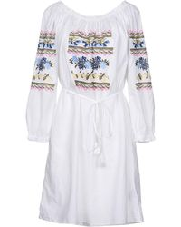 Needle & Thread Kurzes Kleid - Weiß