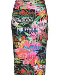 Philipp Plein Falda corta - Negro
