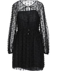 Motel Short Dress - Black