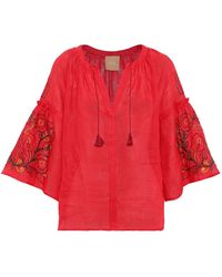 MARCH11 Blouse - Red