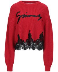 Givenchy Lace Trim Logo Embroidered Sweater