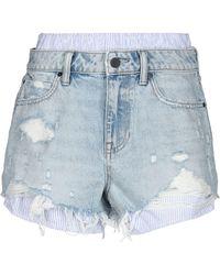 Alexander Wang Shorts jeans - Blu