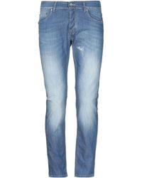 Grey Daniele Alessandrini Denim Pants - Blue