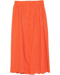 Glamorous Midi Skirt - Orange