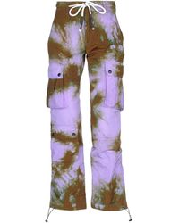 Palm Angels Casual Trousers - Purple