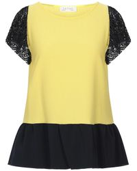 Satine Label Blouse - Yellow