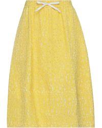 Societe Anonyme Midi Skirt - Yellow