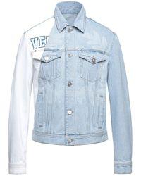 Versace Jeansjacke/-mantel - Blau