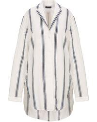 Rag & Bone Striped Cotton And Linen-blend Shirt Ivory - White