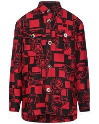 Versace Mantel - Rot