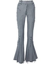 Norma Kamali Denim Pants - Blue
