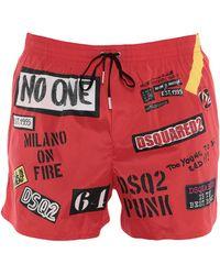 DSquared² Boxer da mare - Rosso
