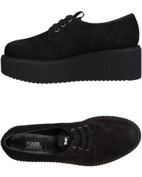 Karl Lagerfeld Lace-up Shoes - Black