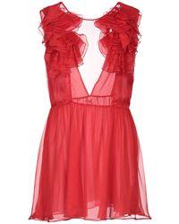 Daniele Carlotta Short Dress - Red