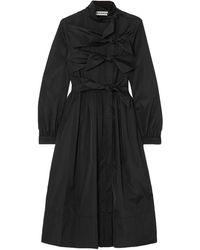 Molly Goddard Overcoat - Black