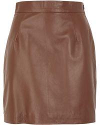 8 by YOOX Mini Skirt - Brown