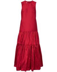 Marques'Almeida Robe longue - Rouge