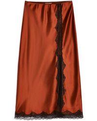 TOPSHOP - 3/4 Length Skirt - Lyst
