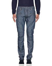 Balmain Pantalon en jean - Bleu