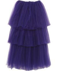 P.A.R.O.S.H. Long Skirt - Purple