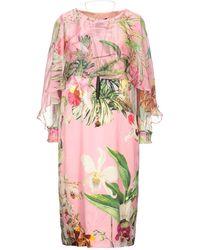 Clips Knee-length Dress - Multicolour