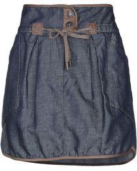 Brunello Cucinelli Jupe en jean - Bleu