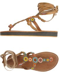 Laidbacklondon Toe Strap Sandal - Brown