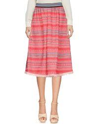 Aglini Knee Length Skirt - Red