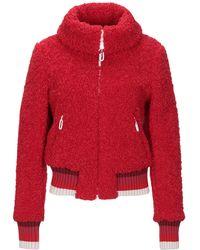 Marco De Vincenzo Teddy coat - Rosso