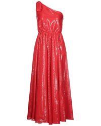 MSGM Robe longue - Rouge