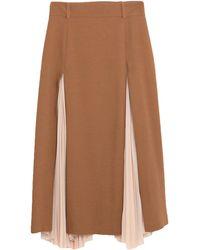 Erika Cavallini Semi Couture Midi Skirt - Brown