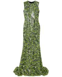 Halpern Long Dress - Green