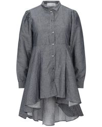 Satine Label Short Dress - Blue
